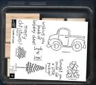 NEW LOADS OF LOVE 7 pc SET Pick Up Truck Stampin Up Holiday Cheer Rubber Stamp