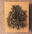 PSX WEEPING TREE WILLOW RUBBER STAMP RETIRED K 1455