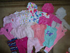 14 Baby Girl Clothes Size 3 6 months Oneies Pjs Hoodies pants Mix Lot Z52 CB4