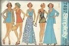 Vintage Simplicity Pattern 7497 Missses Bathing Suit Front Wrap Skirt Shirt 12