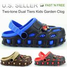 Kids Boys Toddler Garden Clogs Shoes Slip On Casual Two tone Slipper Sandals