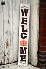 LARGE Rustic Wood Sign Welcome Pumpkin FALL Harvest Thanksgiving Farm Primitive