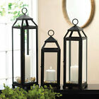 You Choose Size Black Classic Modern Candle Lantern