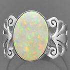Fire Opal 925 Sterling Silver Ring Jewelry s.8 SDR15263