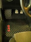 Vw Mk Iv Metal Floor Mats Real Diamond Plate Aluminum Solid Metal