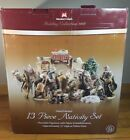 Large Members Mark Hand Painted Porcelain Nativity Set 12