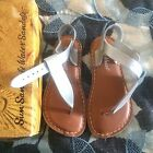 New Saltwater by Hoy Shoes Silver Sun San T Thongs Sandals size 12