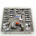 32 pcs Presser Feet with box included fits Brother home low shank sewing machine