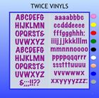 SELF ADHESIVE LETTERS stickers  FELTPEN 30mm OR 35mm high vinyl alphabet set
