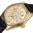 High Quality Skeleton Dial Self-winding Mechanical Mens Steampunk Sports Watch