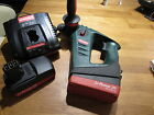 METABO SDS HAMMER DRILL 18v WITH 2 BATTERIES AND CHARGER