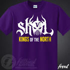 SKOL Vikings T Shirt Kings Shield The North Chant Minnesota Football Fan Jersey