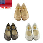 US Kids Girls Slip On Casual Shoes Children Jelly Shoes Hollow Hook