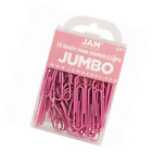 JAM Paper Colored Jumbo Paper Clips Pink Paperclips 75 pack