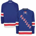 MEN'S NEW YORK RANGERS ROYAL REEBOK EDGE AUTHENTIC HOME JERSEY SIZE 52