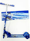 Blue 3 Wheel Sports Elite Kids Folding Aluminum Light UP Kick Scooter