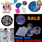 Nail Stamping Plates Art Stamper Kit Set Plate Image Scraper Manicure 10PC DECOR