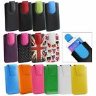 Stylish PU Leather Pouch Case Sleeve has Pull Tab for LG Phones