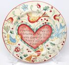 222 Fifth Twelve Days of Christmas - 4th Day Calling Birds Salad Dessert Plate