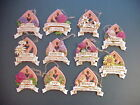 Flower Plaques 11 Ct Lot Christmas Ornaments Summer Botanical Floral 3+