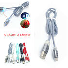 1m Woven Style Charging Wire Light Type C USB Data Sync Charge Cable For Samsung
