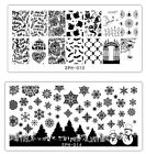 Halloween Xmas Nail Art Stamping Plates Stamp Template Image Print Holiday