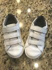 GAP Youth boys Perforated classic trainers white size 11 used