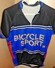 Vintage Mt Borah Mens Cycling Jersey Large Blue