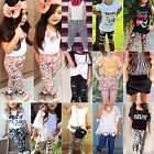 Toddler Baby Kids Girls Summer T shirt Tops + Shorts Pant Outfits Tracksuit Sets