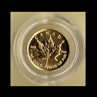 Canada 1/20 oz .9999 Pure Gold Maple Leaf as Pictured (Random Year) FREE US SHIP