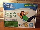 WEIGHT WATCHERS ULTIMATE BELLY KIT DVD MINI STABILITY BALL FITNESS EXERCISE NEW