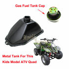 Metal Gas Fuel Tank +Cap For Chinese ATV Kids 50cc 70cc 90cc 110cc 125cc Quad