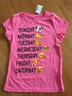 The Childrens Place Girls Days Of The Week Emoji Shirt Size 5 6