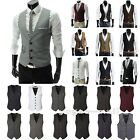 Mens Suit Vest Formal Business Slim Wedding Tuxedo Waistcoat Jacket Coat Tops