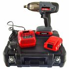 24v Li-Ion Cordless Impact Wrench Gun 1/2 Drive With 2 Twin Lithium Bat AN001