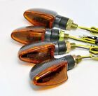 4X TURN SIGNAL CARBON YELLOW LENS BENELLI 250 Quattro 254 Spring 50 Jarno Laser
