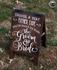 Large Primitive Handmade Wood Sign Choose a Seat Wedding Rustic Distressed Love