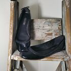 ECCO Womens Black Patent Leather Ballerina Flat Slip on US 10 105M EUR 41 A33