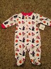 NWT Infant Girls LS Adorable Halloween Sleeper Size 0 3 Months