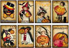 8 HALLOWEEN RETRO CHILDREN PUMPKINS HANG GIFT TAGS FOR SCRAPBOOK PAGES 75