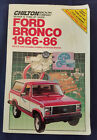 Ford Bronco 1966 86 Chilton Vintage Repair Manual Softcover 1987