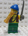 Lego Pirate Minifigure with Rag Hat  Cutlass and Spyglass -  New