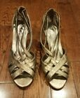 Bella Vita Lattice Womens Size 95 Bronze Dress Sandals Shoes