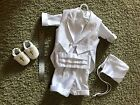 Baptismal Suit Infant Boy White Suit Shoes Baptism Christening 9 12 Months