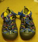 KEEN Performance Waterproof Blue Red Cars Sport Sandals Shoes Boys Size 11 EUC