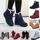 Womens Winter Warm Suede Ankle Snow Boots Fur Thicken Ski Flats Casual Shoes