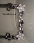White Diamond Bling Car Silver Chrome License Plate Frame W Swarovski Crystals