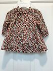 NWOT Baby Gap Gathered Dress 6 12 MonthsIvory Frost PatternPants Red Floral