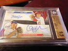 MIKE TROUT KERSHAW Dual 2015 Topps Chrome Auto RED REFRACTOR SSP # 5 BGS 9.5 10