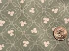 Joan Kessler Celery Green White Novelty Circles Cotton Quilting Fabric 44x 23